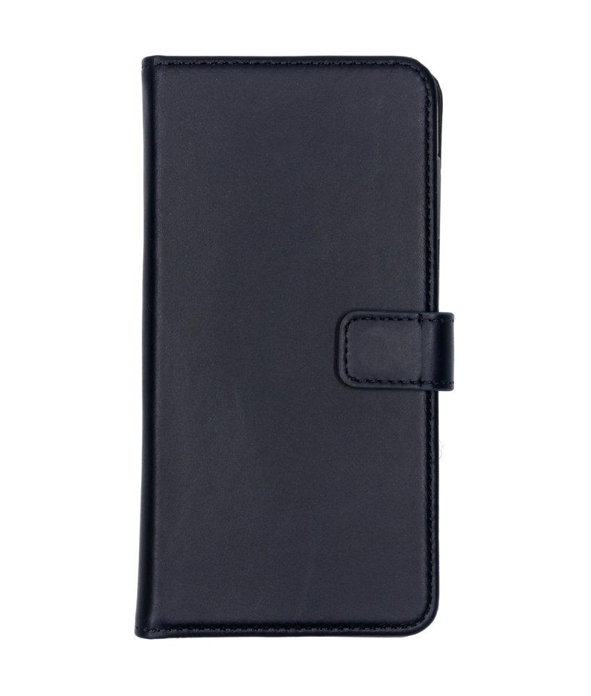 Selencia Echt Lederen Booktype Samsung Galaxy A50 - Donkerblauw