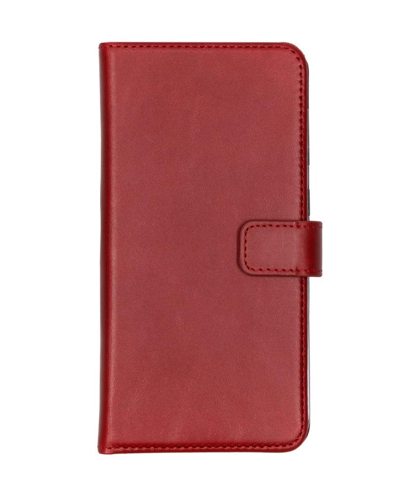 Selencia Echt Lederen Booktype Samsung Galaxy A50 / A30s - Rood