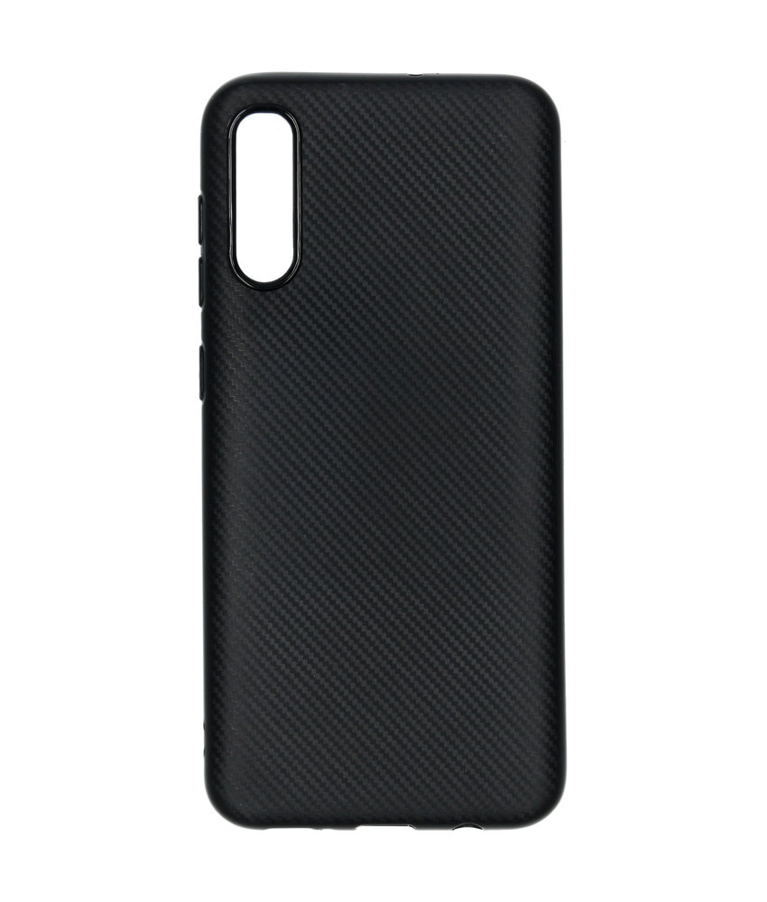 Carbon Softcase Backcover Samsung Galaxy A50 - Zwart