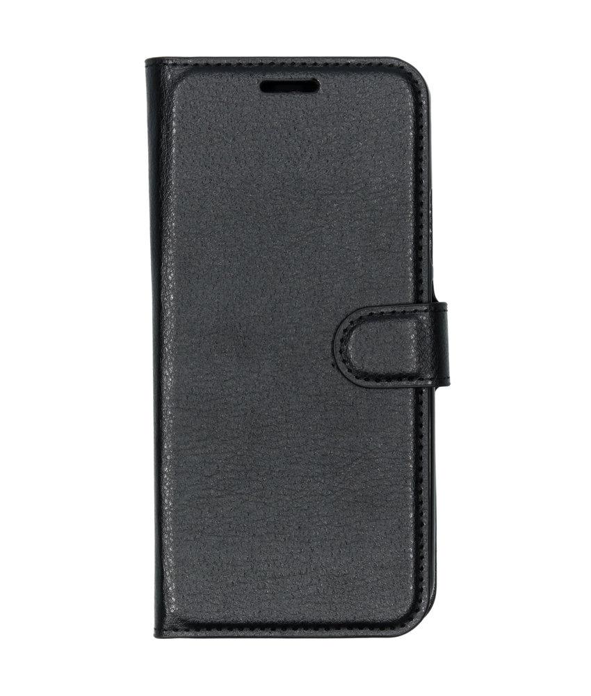 Basic Litchi Booktype Nokia 9 PureView - Zwart
