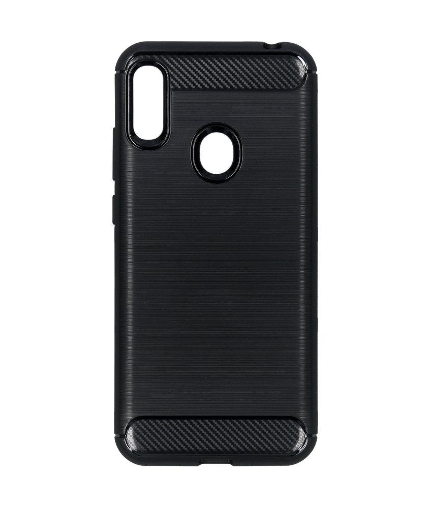 Brushed Backcover Huawei Y6 (2019) - Zwart