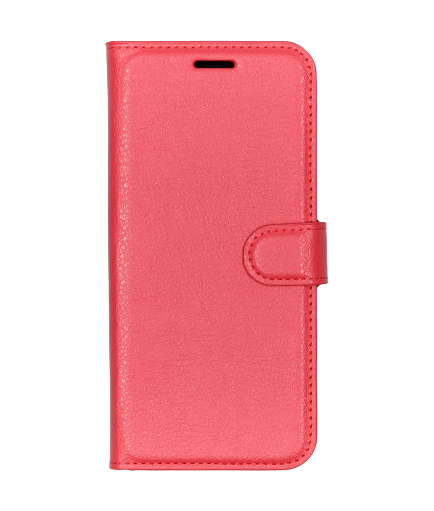 Basic Litchi Booktype Nokia 9 PureView - Rood