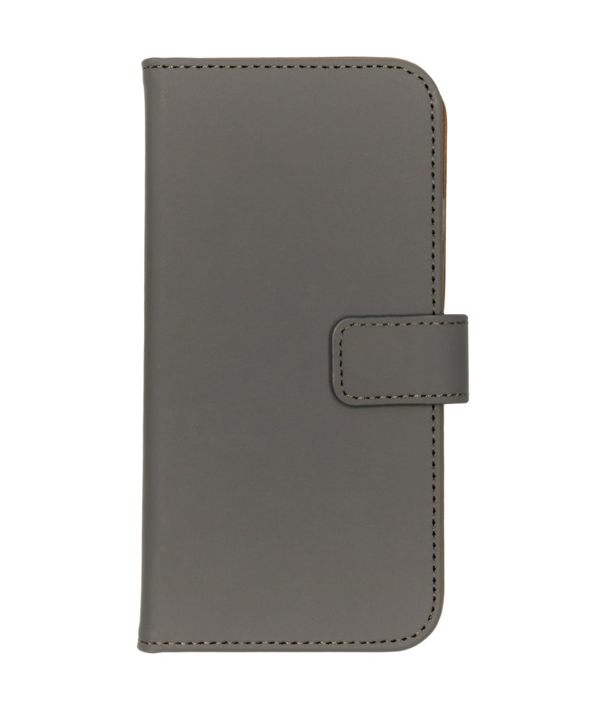 Selencia Luxe Softcase Booktype iPhone 8 / 7 / 6s / 6 - Grijs