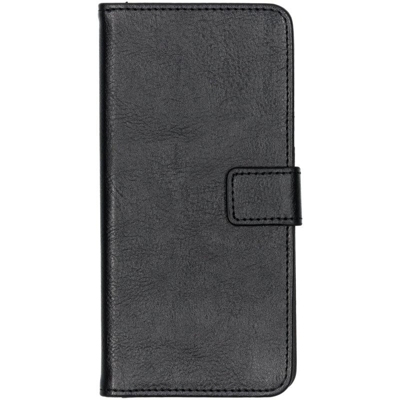 Luxe Lederen Booktype Samsung Galaxy A70 - Zwart