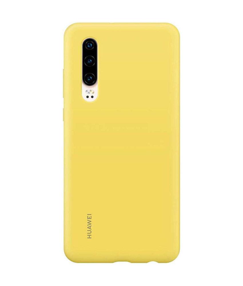 Huawei Silicone Backcover Huawei P30 - Geel