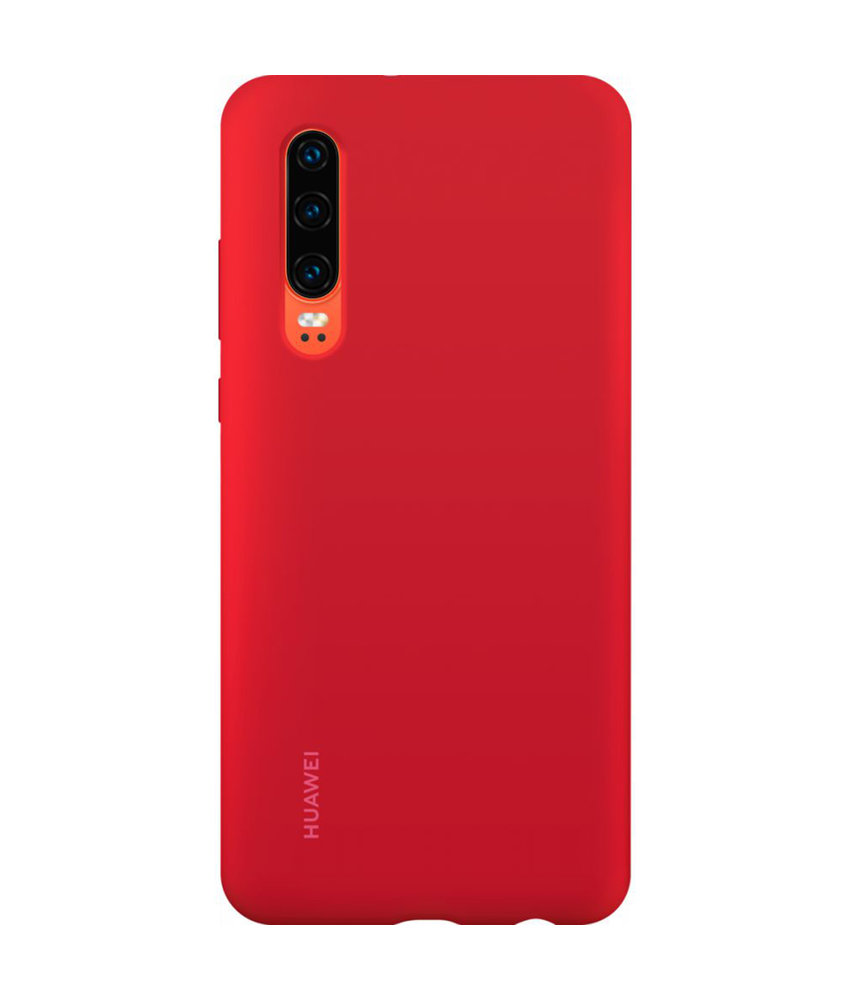 Huawei Silicone Backcover Huawei P30 - Rood