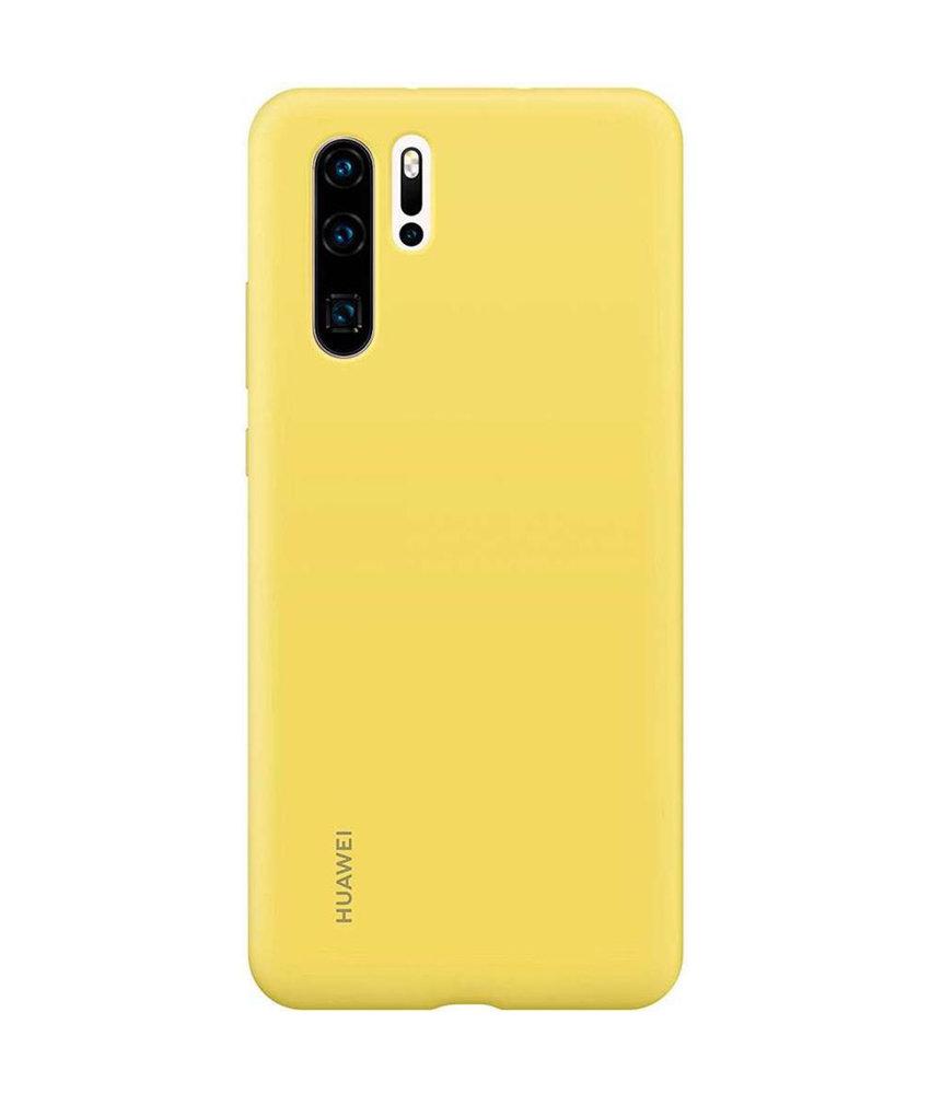 Huawei Silicone Backcover Huawei P30 Pro - Geel