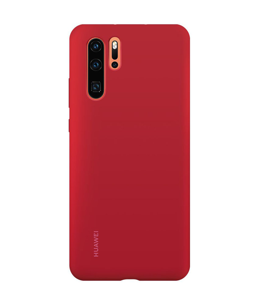 Huawei Silicone Backcover Huawei P30 Pro - Rood