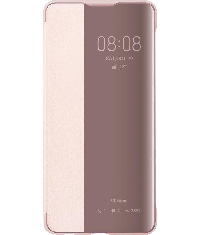 Huawei Smart View Flip Case Huawei P30 - Roze