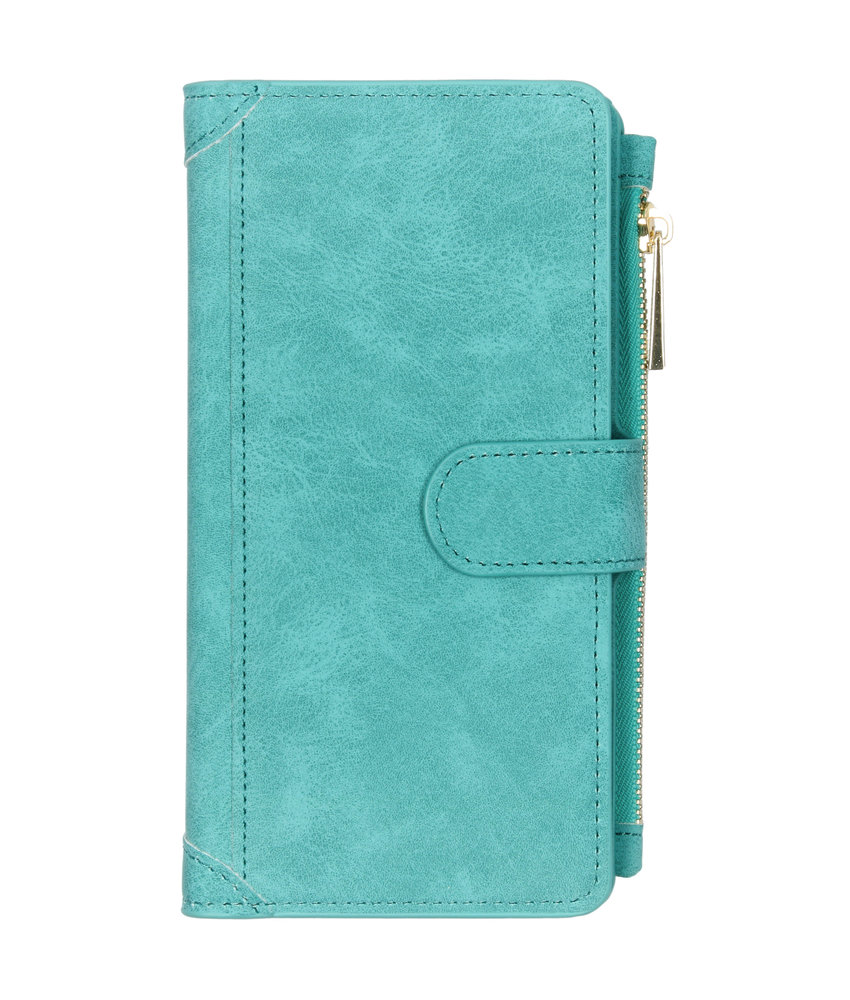 Luxe Portemonnee Samsung Galaxy A50 - Turquoise