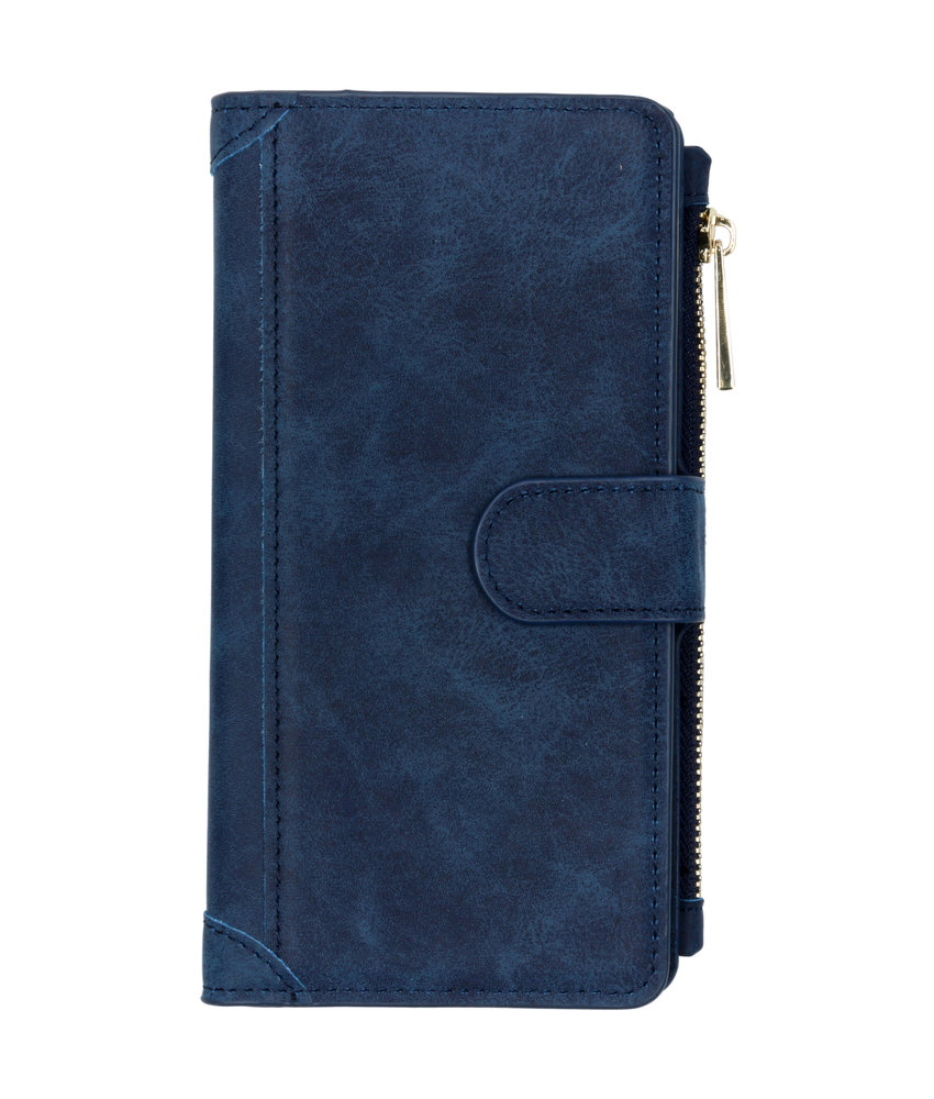 Luxe Portemonnee Samsung Galaxy A50 / A30s - Donkerblauw