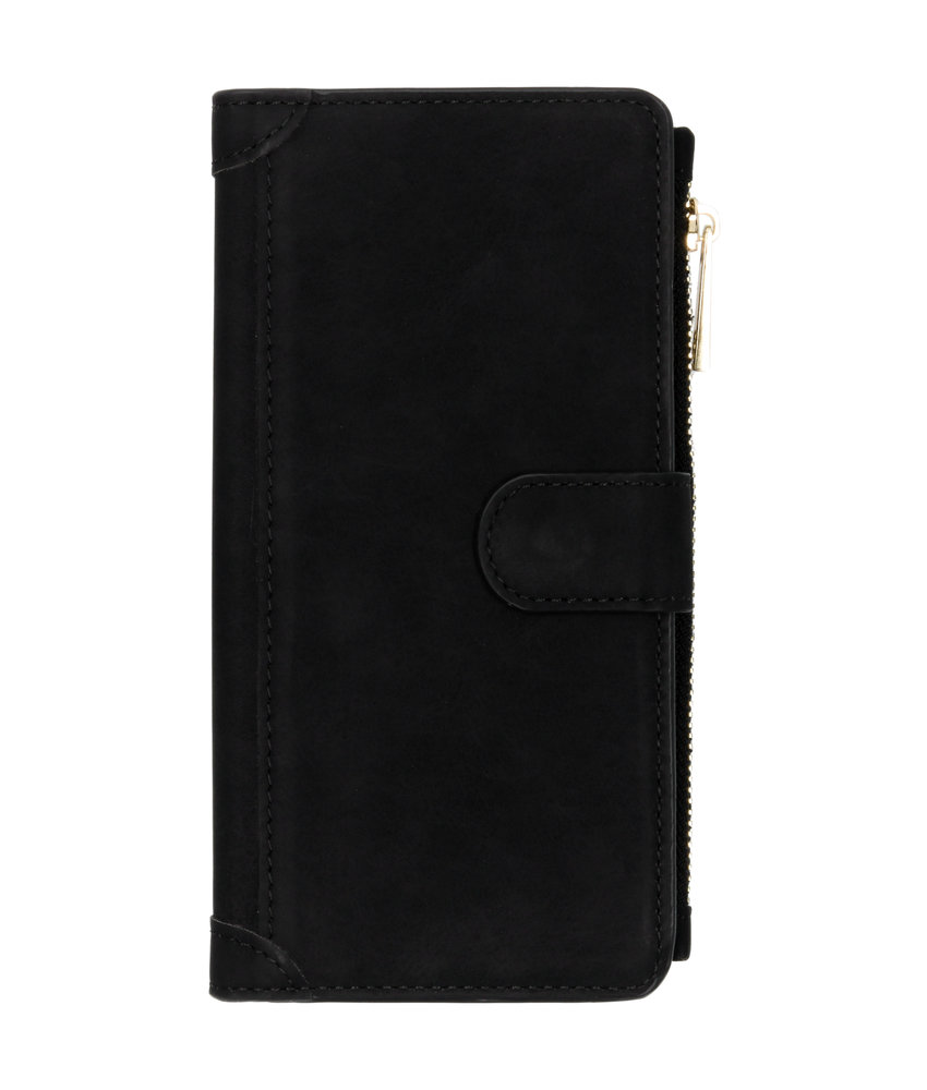 Luxe Portemonnee Samsung Galaxy A50 - Zwart