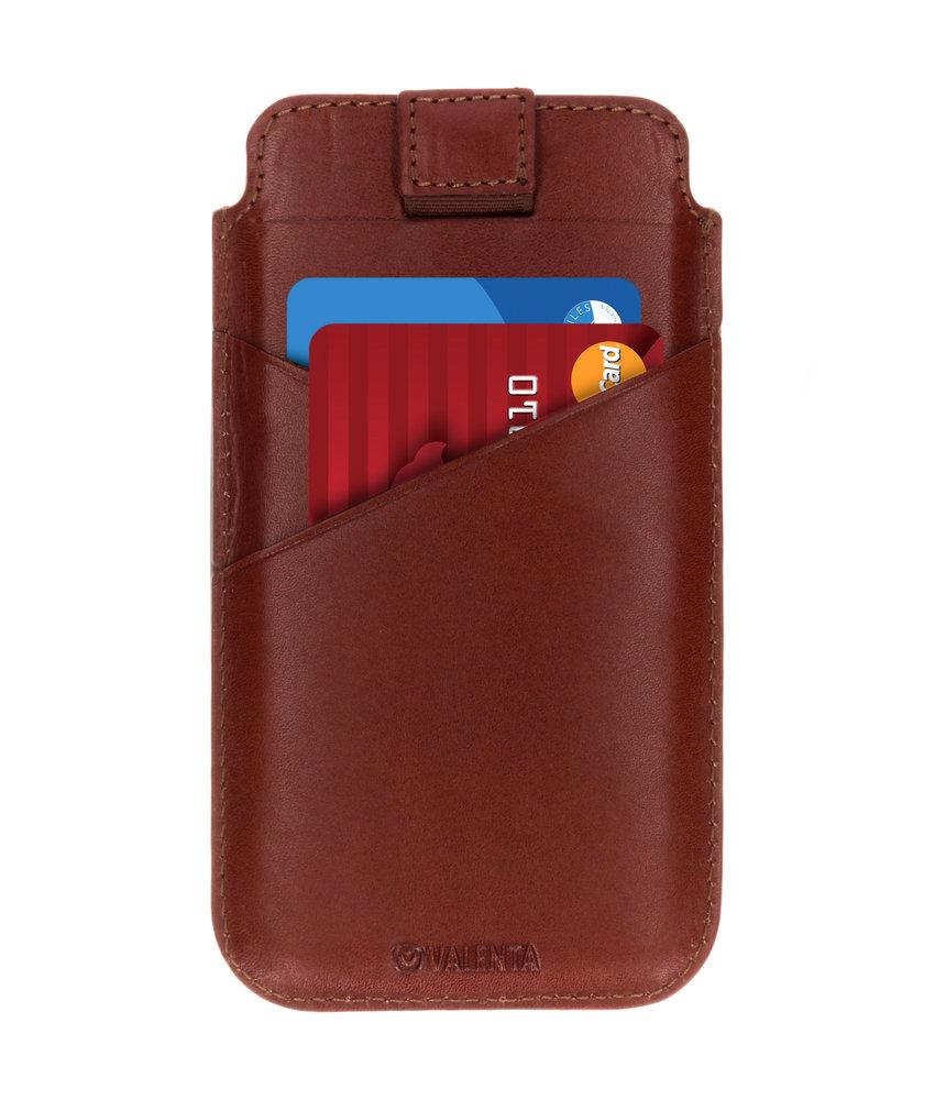 Valenta Pocket Premium Insteekhoes iPhone Xr - Bruin
