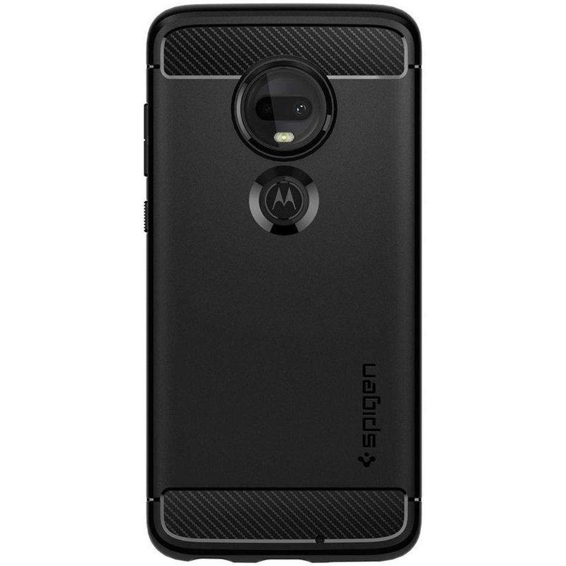 Spigen Rugged Armor Backcover Motorola Moto G7 / G7 Plus - Zwart