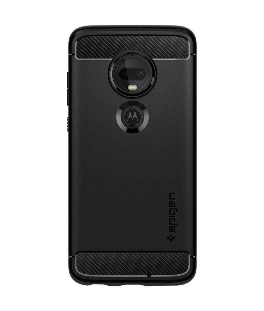 Spigen Rugged Armor Backcover Motorola Moto G7 / G7 Plus - Zwart