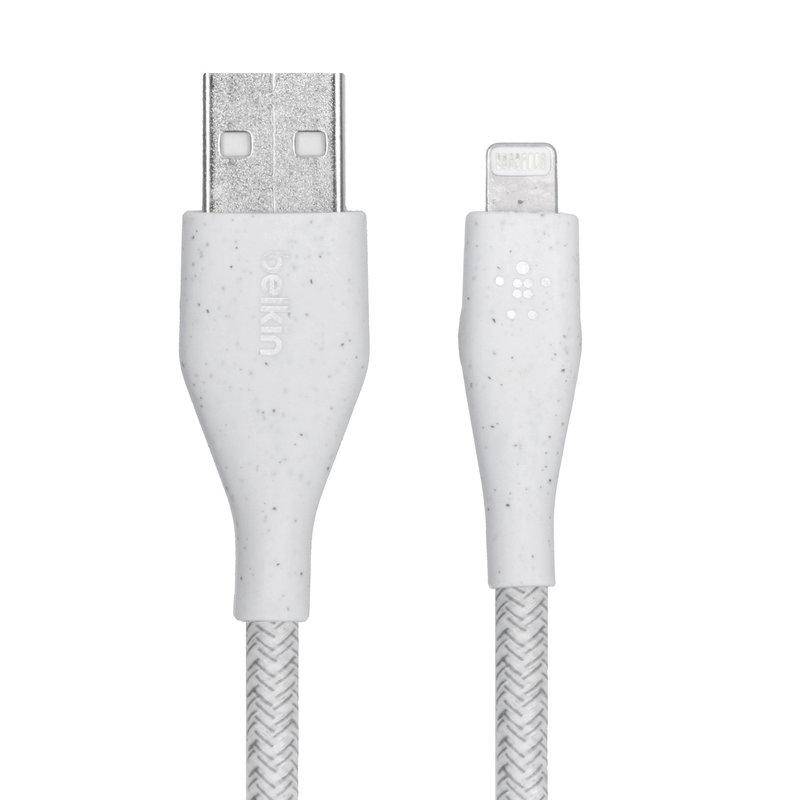 Belkin DuraTek Plus Lightning naar USB kabel - 3 meter - Wit