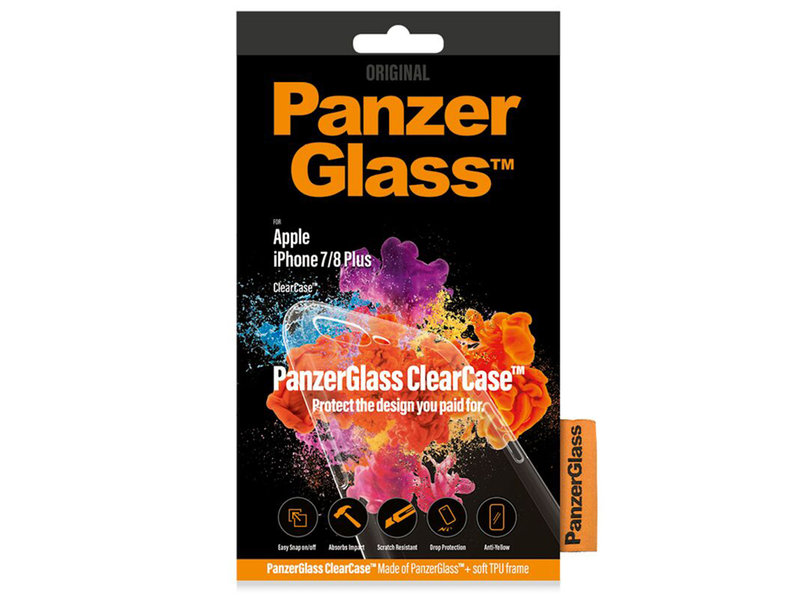 PanzerGlass ClearCase voor iPhone 8 Plus / 7 Plus - Transparant