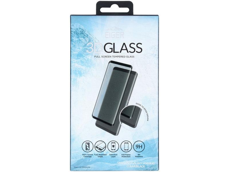 Eiger Edge to Edge Glass Screenprotector voor de Samsung Galaxy A50