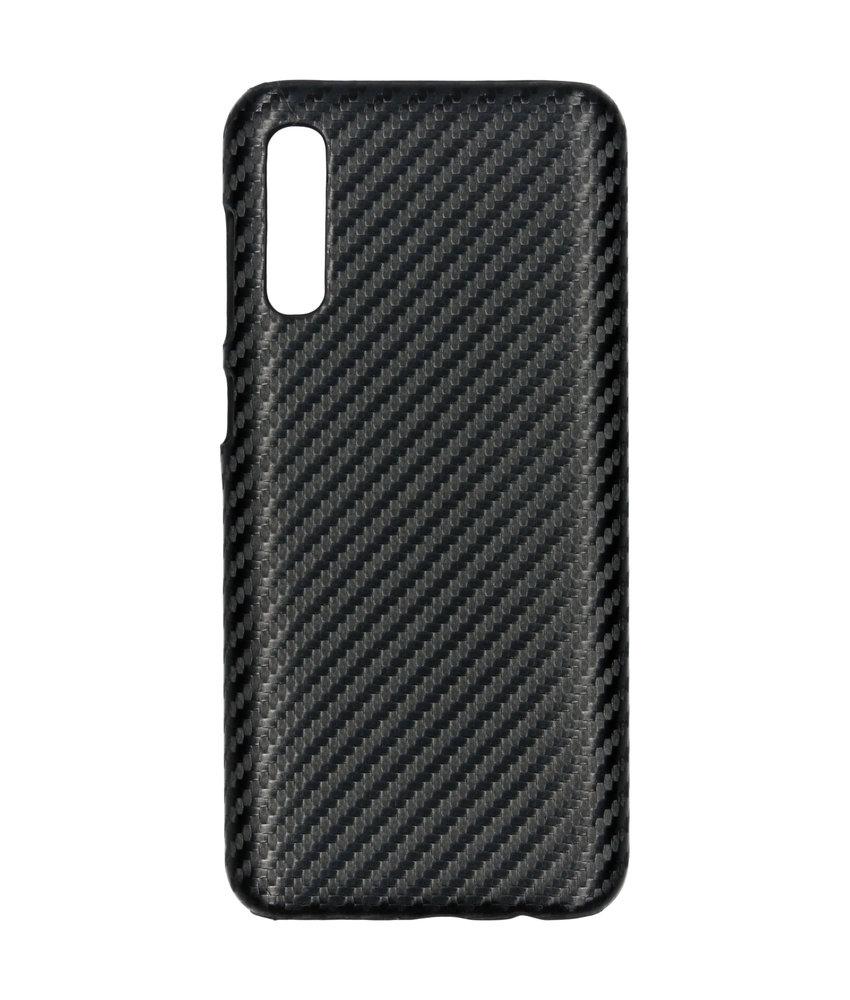 Carbon Hardcase Backcover Samsung Galaxy A50 / A30s - Zwart