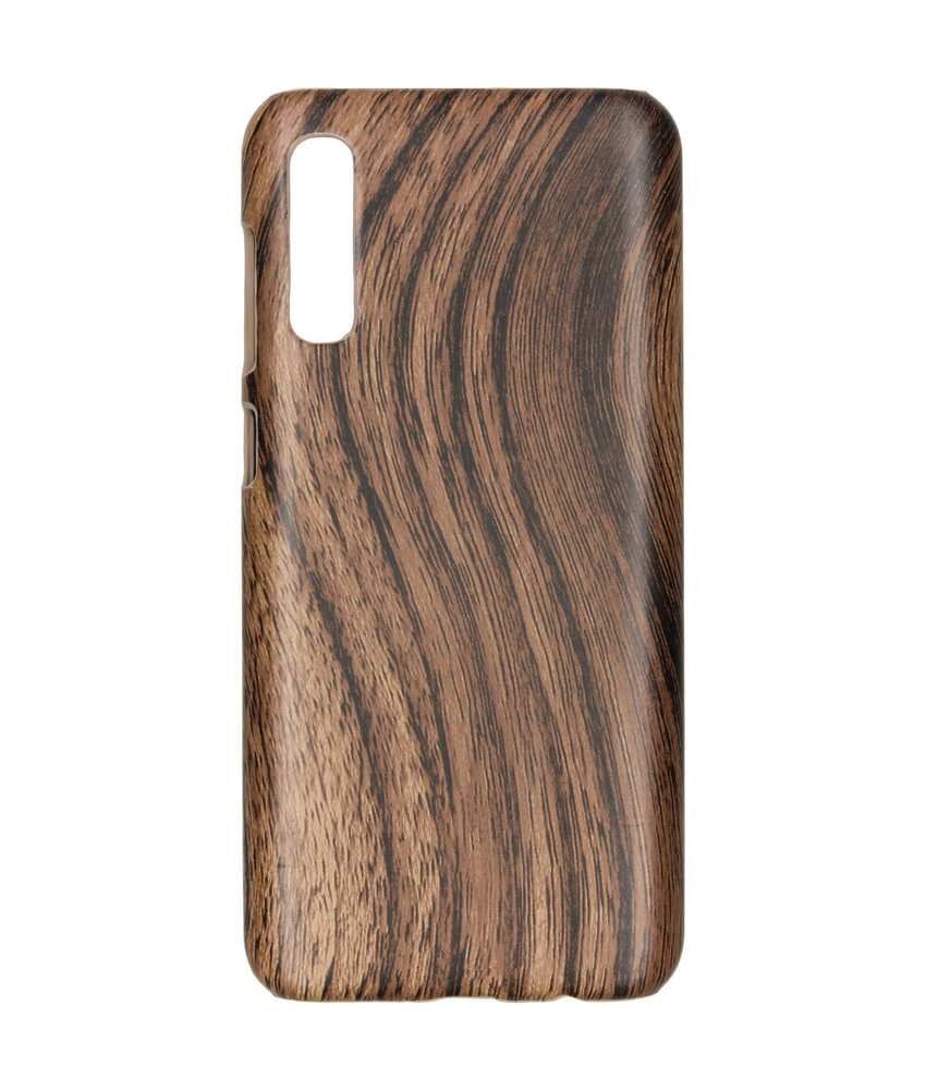 Hout Design Backcover Samsung Galaxy A50 - Bruin