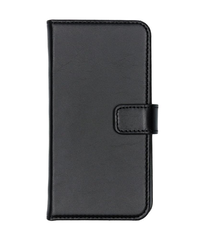 Selencia Echt Lederen Booktype Samsung Galaxy A40 - Zwart