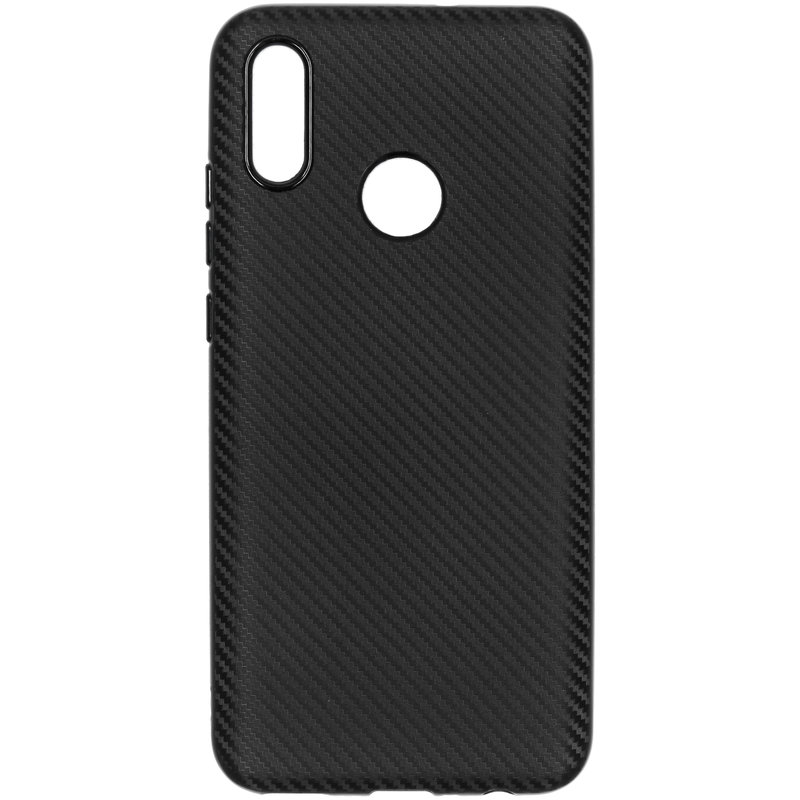 Carbon Softcase Backcover Huawei P Smart (2019) - Zwart