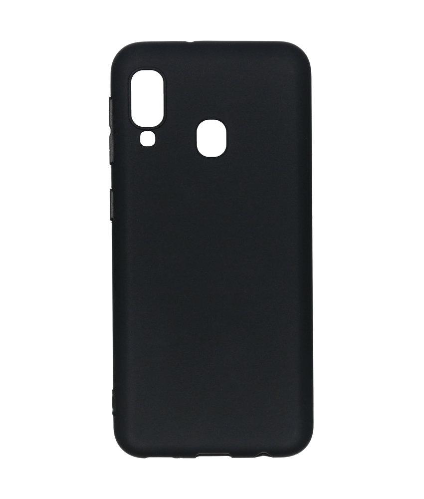 Color Backcover Samsung Galaxy A20e - Zwart