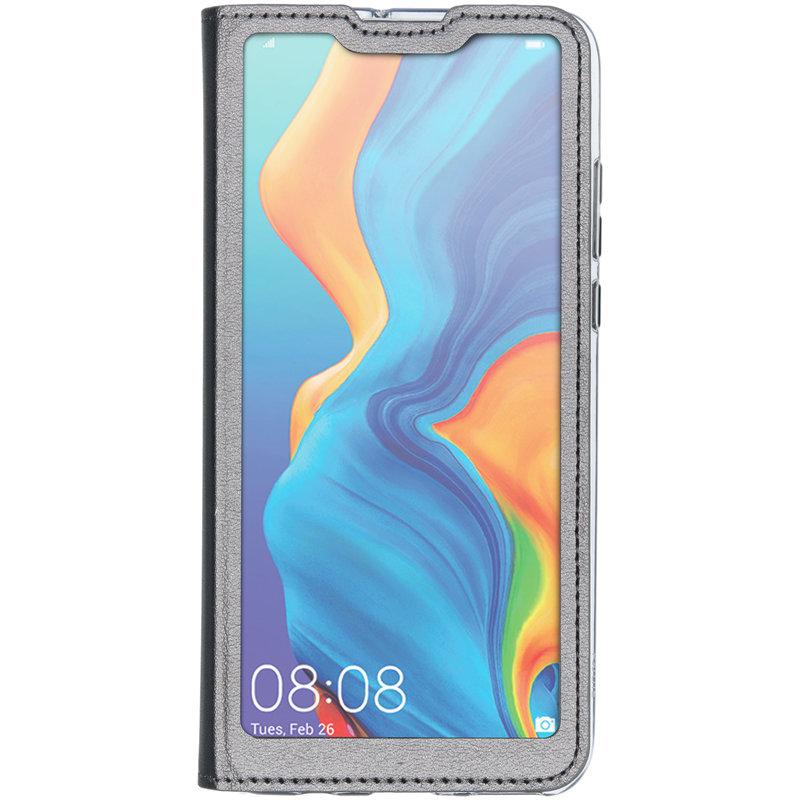 Flipcover met venster Huawei P30 Lite - Grijs
