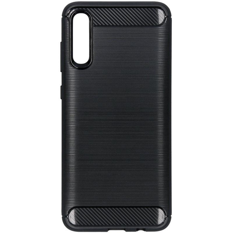 Brushed Backcover Samsung Galaxy A70 - Zwart