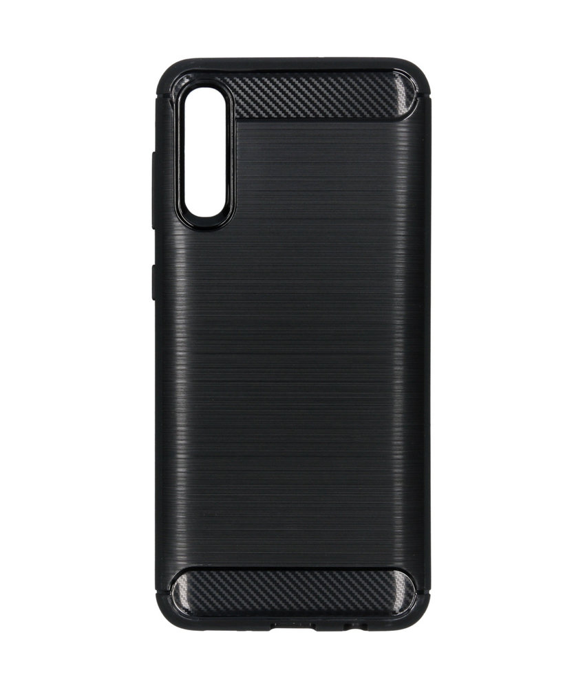 Brushed Backcover Samsung Galaxy A50 - Zwart