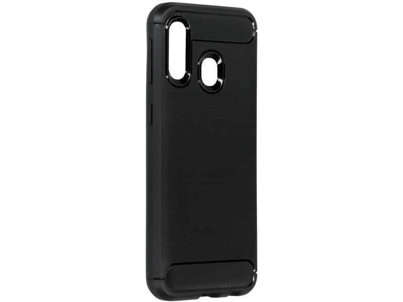 Samsung Galaxy A40 hoesje - Brushed Backcover voor de