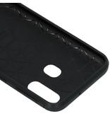 Brushed Backcover voor de Samsung Galaxy A40 - Zwart