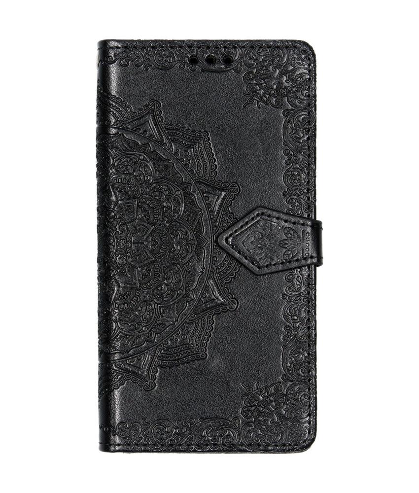 Mandala Booktype Samsung Galaxy A40 - Zwart