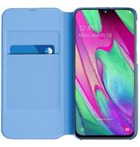 Samsung Wallet Booktype voor de Samsung Galaxy A40 - Zwart