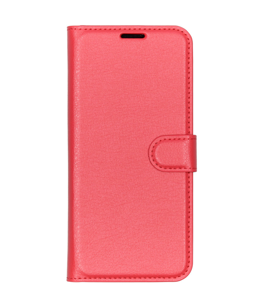 Basic Litchi Booktype Huawei P Smart Plus (2019) - Rood