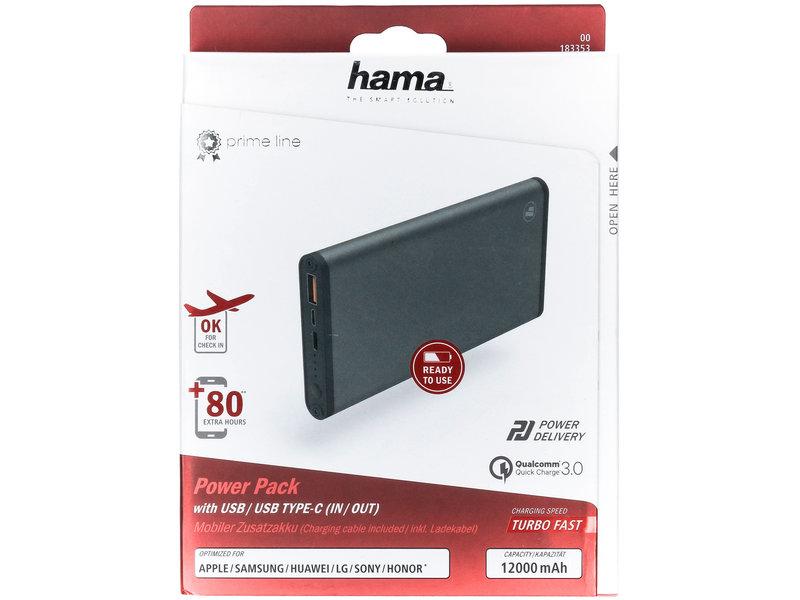 Hama Powerbank - 12.000 mAh