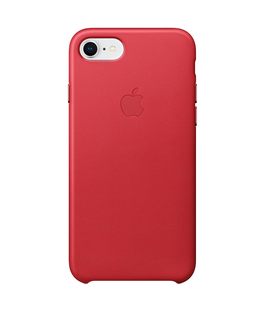 Apple Leather Backcover iPhone 8 / 7 - Rood