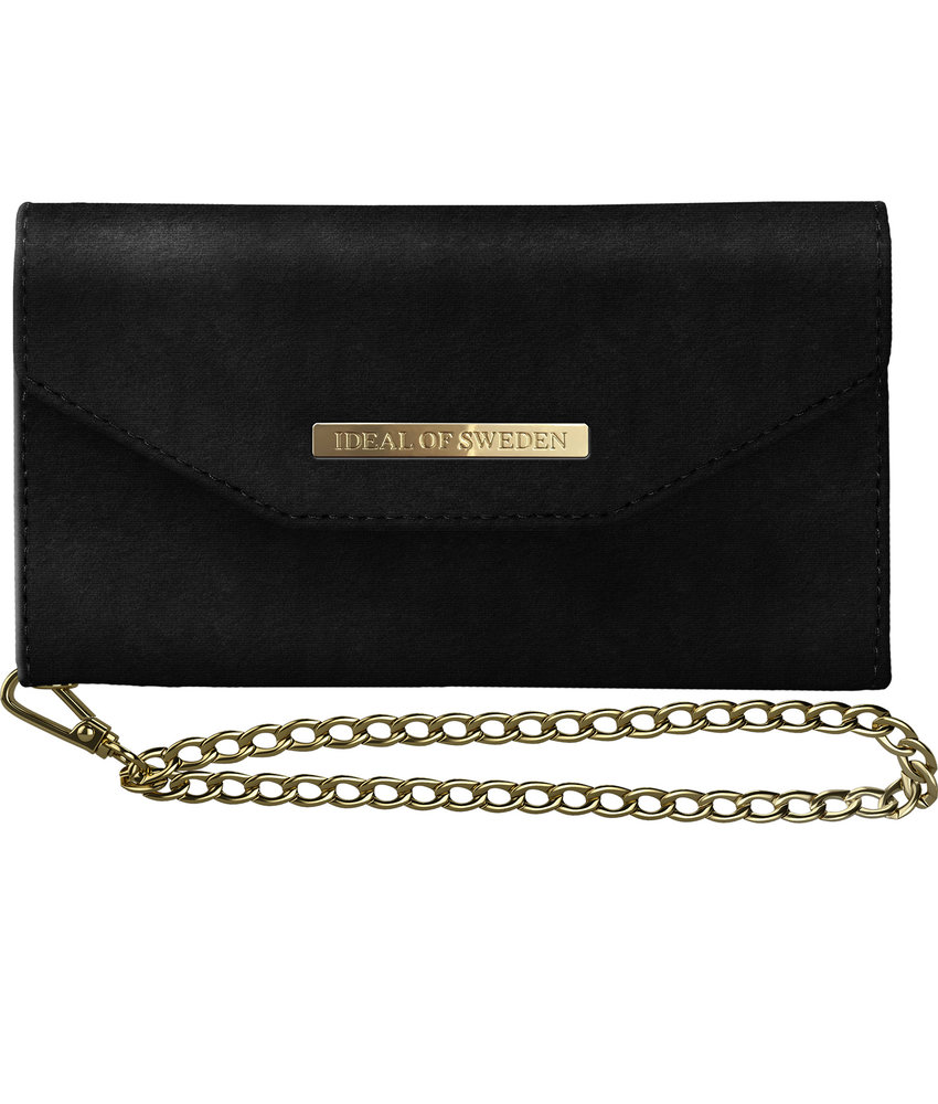 iDeal of Sweden Mayfair Clutch Velvet iPhone Xs / X - Zwart