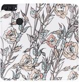 Design Hardcase Booktype voor Huawei P Smart - Flowers