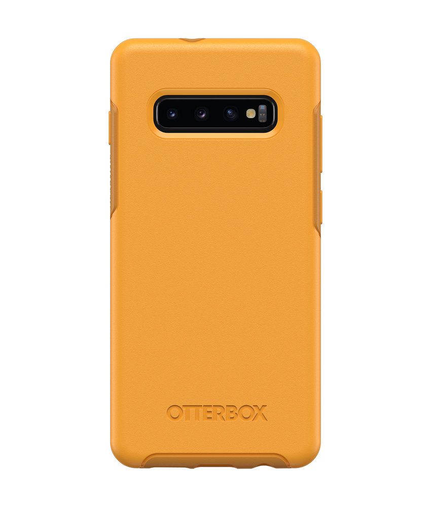 OtterBox Symmetry Backcover Samsung Galaxy S10 Plus - Geel