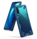 Ringke Fusion X Backcover voor de Huawei P30 - Blauw