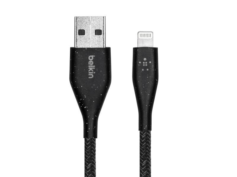 Belkin DuraTek Plus Lightning naar USB kabel - 3 meter - Zwart