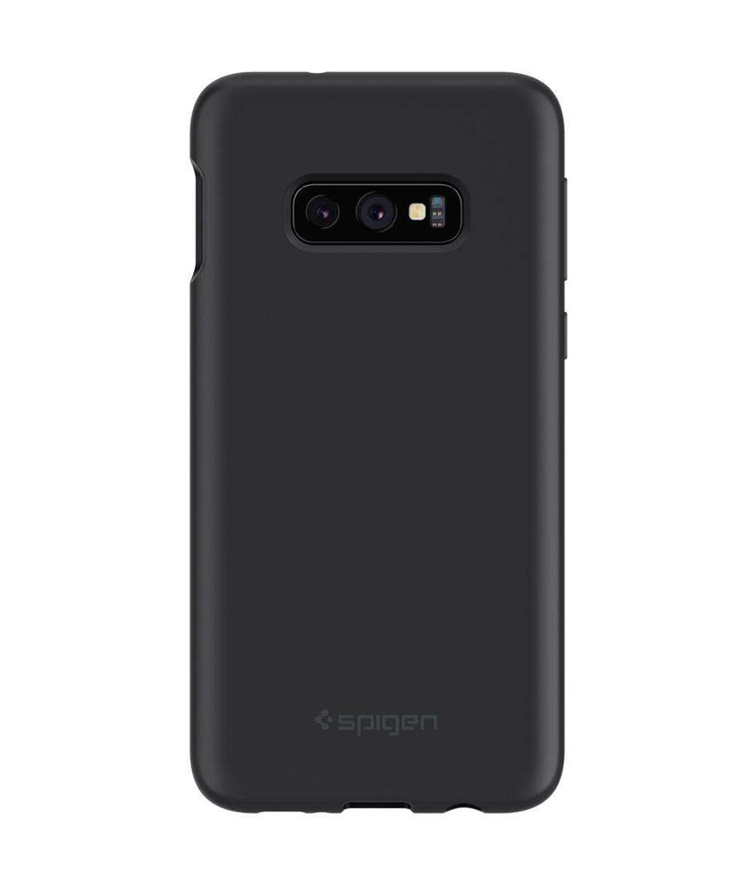 Spigen Silicone Fit Backcover Samsung Galaxy S10e - Zwart