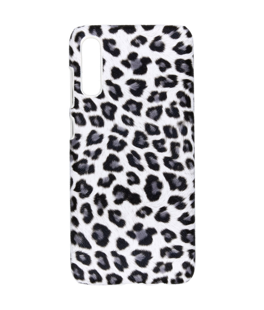 Luipaard design Backcover Samsung Galaxy A70 - Wit
