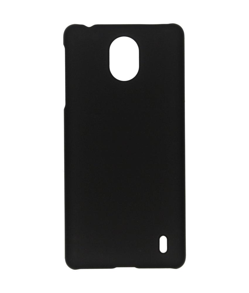 Effen Backcover Nokia 1 Plus - Zwart