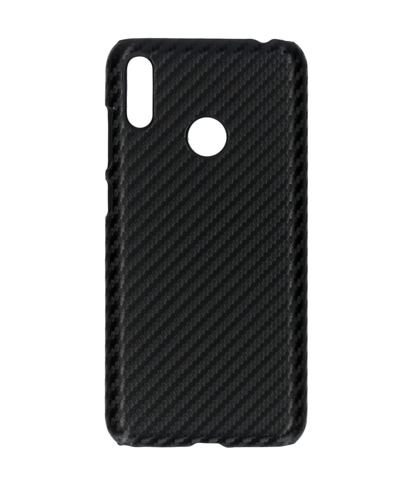 Carbon Hardcase Backcover Huawei Y7 (2019) - Zwart
