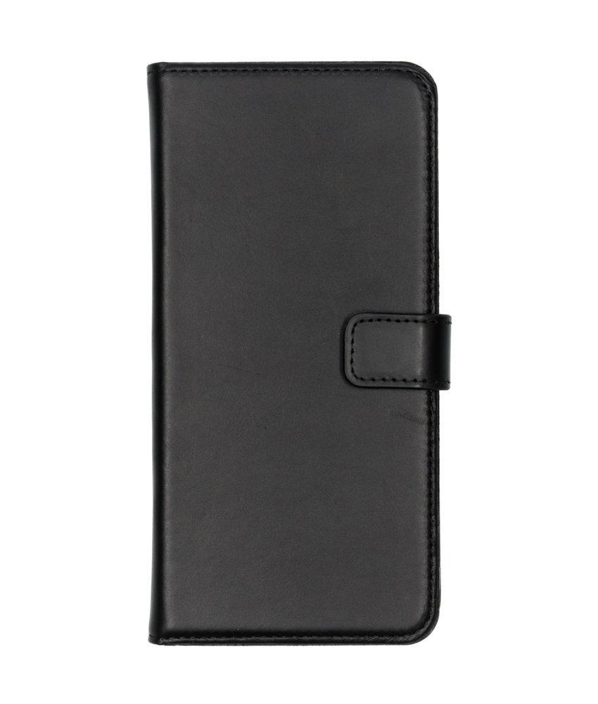 Selencia Echt Lederen Booktype Samsung Galaxy A70 - Zwart