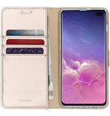 Accezz Wallet Softcase Booktype voor Samsung Galaxy S10 Plus - Goud