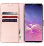 Accezz Wallet Softcase Booktype voor Samsung Galaxy S10 Plus - Rosé Goud