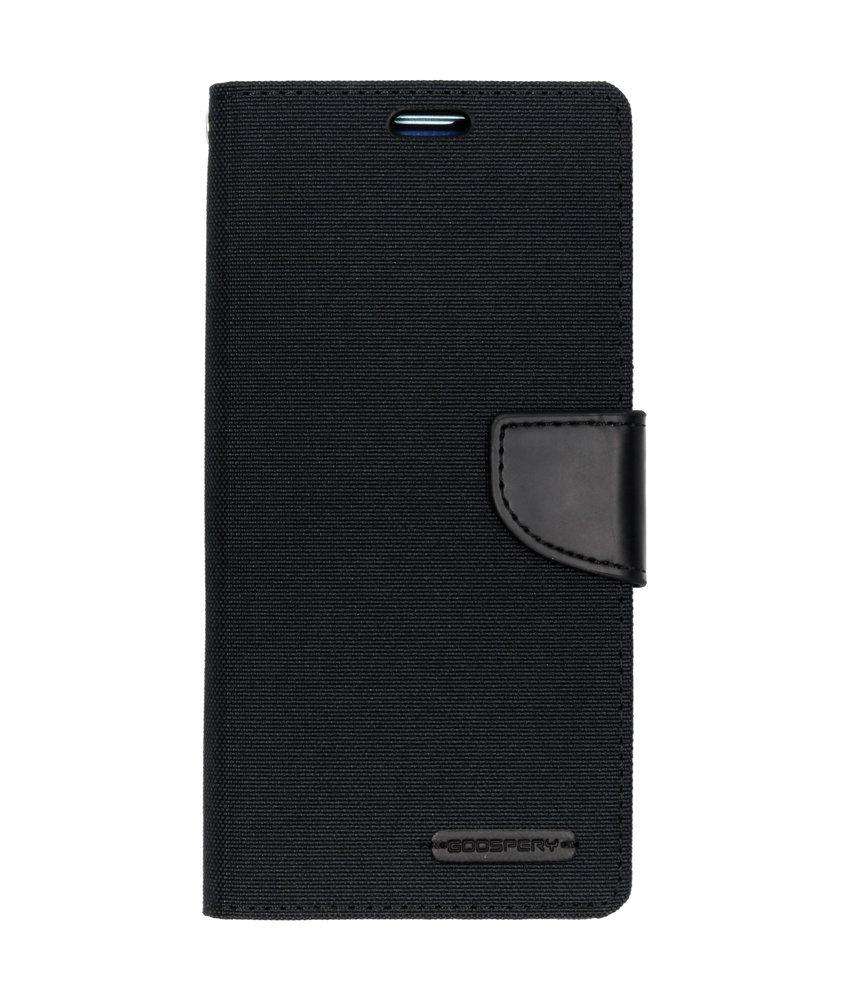 Mercury Goospery Canvas Diary Booktype Samsung Galaxy S10 Plus - Zwart